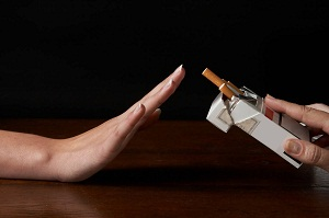 Quit smoking to avoid lung cancer